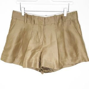 "Anthropologie Cartonnier Khaki Pleat 3"" Shorts"